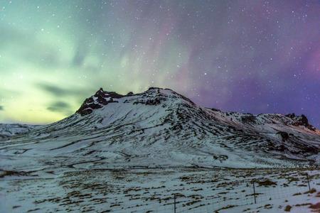 aurora: Northern Lights Aurora borealis at Vik Iceland