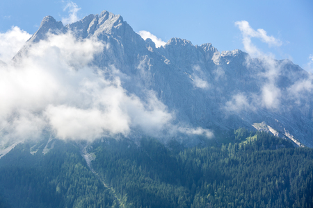 top mountain: Zugspitze Alpine Alps mountain Landscape top of Germany