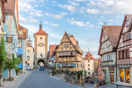Rothenburg ob der Tauber ville centre-ville historique, Franconie, Bavière, Allemagne Banque d'images