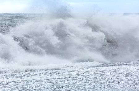 shorebreak: Big Wave at black beach Iceland