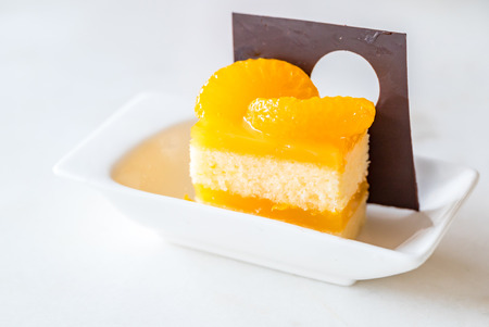 orange cake: orange cake decorate with choclate