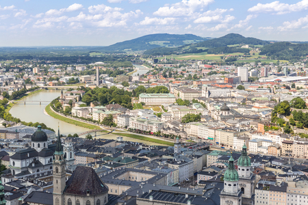 amadeus: Austria Salzburg, Beautiful view of the historic city of Salzburger Land