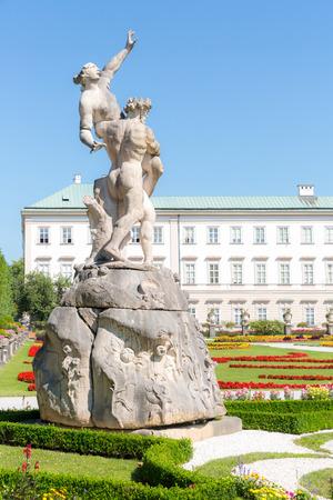 amadeus: Beautiful view of famous Mirabell Gardens in Salzburg, Austria