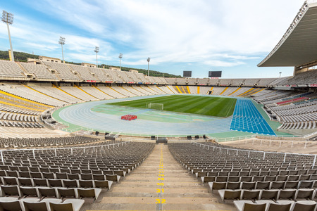 olympic stadium: Olympic stadium in Barcelona, Spain Editorial