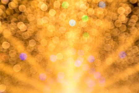 abstract shape: abstract blur background: defocus of yellow marquee light Stock Photo