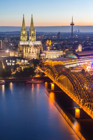 cologne: Cologne Cathedral aerial view, Cologne, Germany