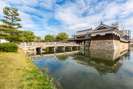 Gate of Hiroshima castle Japan