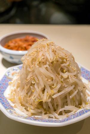 Korean Salad bean sprouts kimchi cuisine