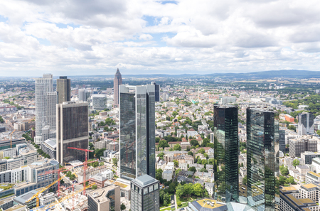 german: Germany Frankfurt am main skyscrapers aerial view