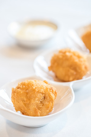 balls deep: Chinese dim sum Fried Shrimp ball - Chinese groumet cuisine Stock Photo