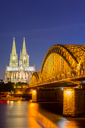 cologne: Cologne Cathedral and Hohenzollern Bridge, Cologne, Germany