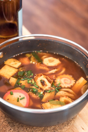 hashi: Spicy Japanese Cuisine Miso Soup Udon Stock Photo