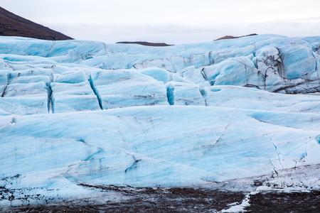 terminus: Iceland Glacier Svinafell national park