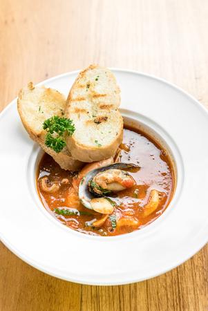 marinara sauce: Pasta with Seafood Marinara sauce Stock Photo