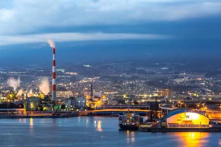industry: Japan industry Factory from Shizuoka prefecture with Mountain Fuji background