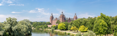 Frankfurt Johannisburg palace, Aschaffenburg Germany Panorama Stock Photo