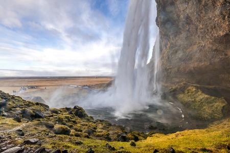 Seljalandsfoss cascade sur le sud de l'Islande
