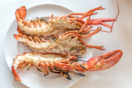 Lobster grilled gourmet fresh seafood cuisine Stock Photo
