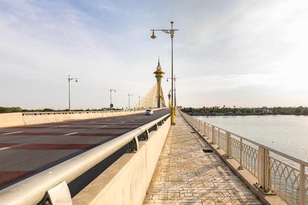 nonthaburi: Maha Chesadabodindranusorn Bridge in Nonthaburi Thailand