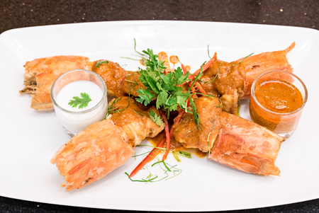 Fried Tiger River Prawn with Red Curry Paste Chu Chee Kung