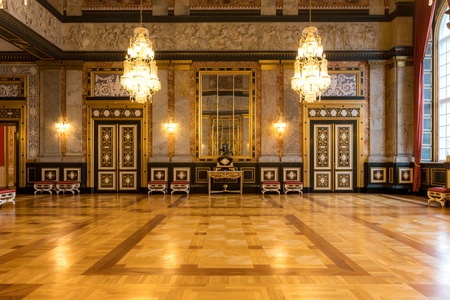Bâtiment du Parlement danois et Palais de Christiania, Copenhague Danemark Banque d'images - 78213105