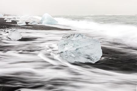 popular: Iceberg on Diamond beach at Vatnajokull Glacier Jokulsarlon Iceland