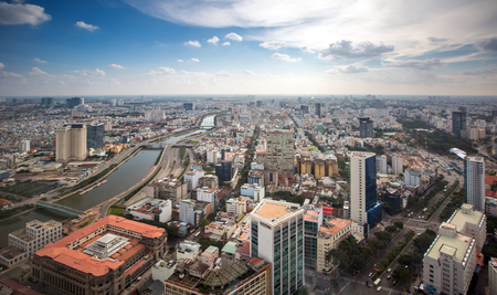 Ho Chi Minh city Cityscape Stock Photo