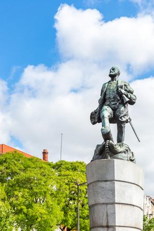 Ferdinand Magellan Statue in Lisbon Portugal 版權商用圖片