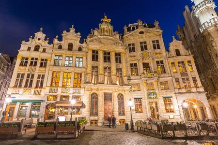 cornet: Grand Place in Brussels Belgium suset twilight.