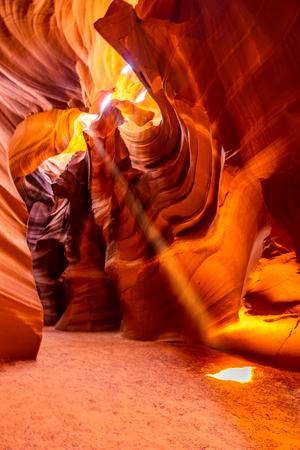 Upper Antelope Canyon in the Navajo Reservation near Page, Arizona USA Фото со стока