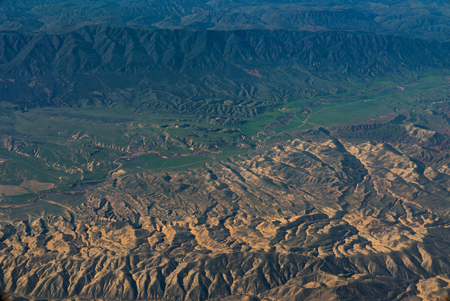 An aerial view of California San Andreas, California, USA Stock Photo
