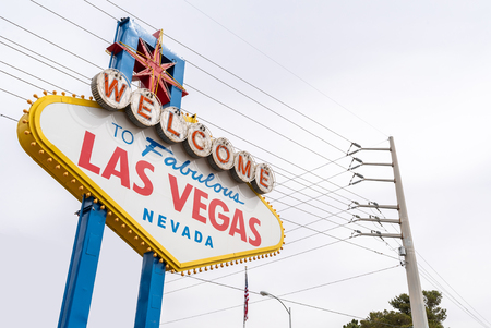Famous fabulous Las Vegas sign in city of Las Vegas, Nevada, USA