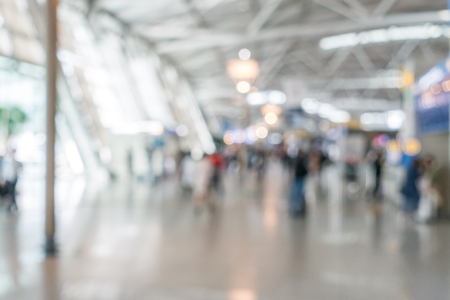 Abstrast Blurred background : airport departure terminal area Stockfoto