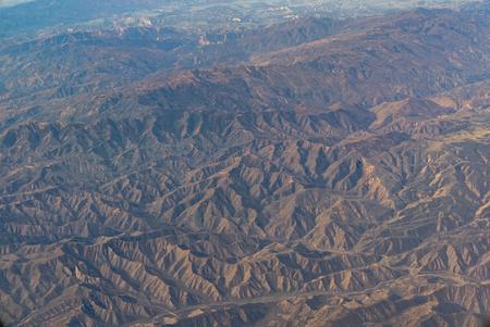 An aerial view of California San Andreas, California, USA Reklamní fotografie