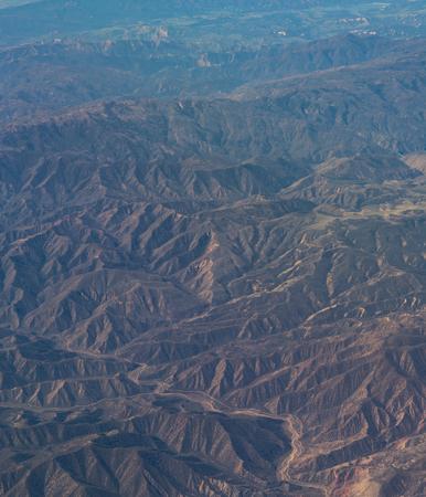 An aerial view of California San Andreas, California, USA Zdjęcie Seryjne