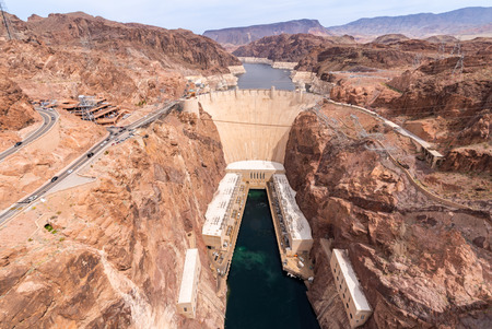 Hoover dam in Arizona and Nevada, USA