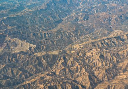 An aerial view of California San Andreas, California, USA