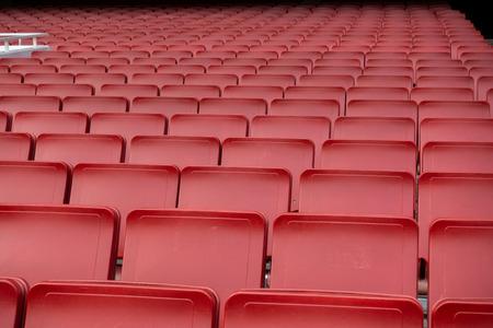 empty Red seat row in football soccer stadium Imagens