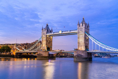 London Tower Bridge Sunset dusk, London UK. Stock Photo