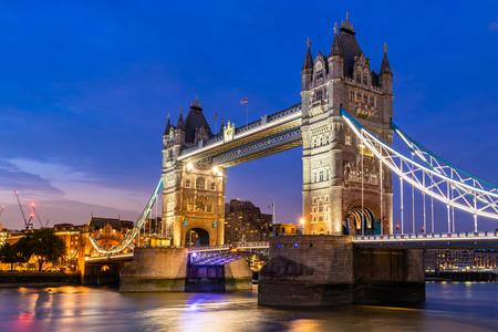 London Tower Bridge Sunset dusk, London UK. Reklamní fotografie