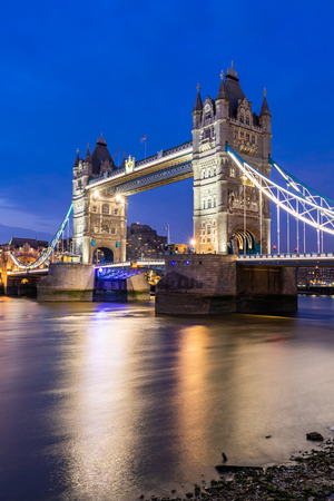 London Tower Bridge Sunset dusk, London UK. Imagens - 124942386