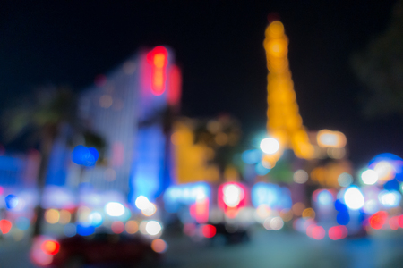 Abstract Blurred  of Las Vegas city cityscape in Nevada USA night