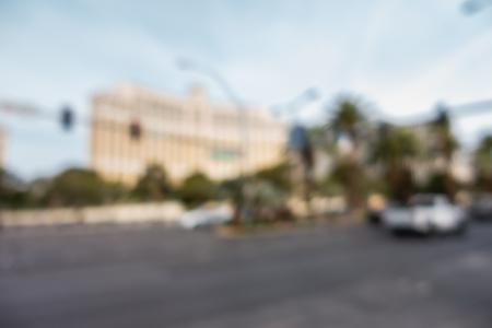 Abstract Blurred  of Las Vegas strip boulevard in Las Vegas city Nevada USA