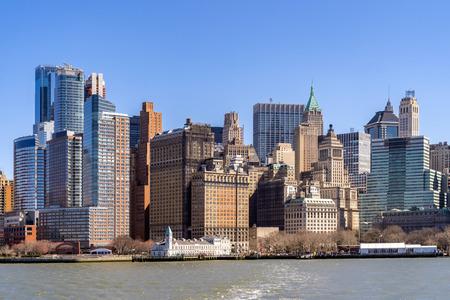 New York city Lower Manhattan skyline cityscape in New York USA