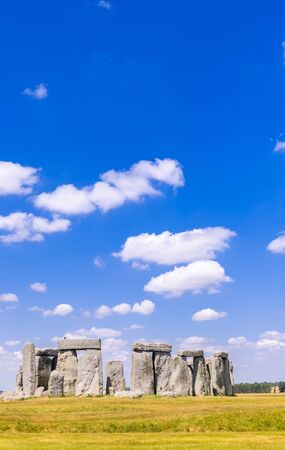 Landscape of Stonehenge England United Kingdom,