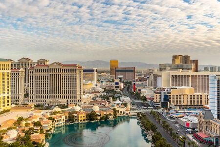 Las Vegas strip Aerial view cityscape in Nevada USA 免版税图像 - 126271229