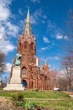 Luther Place Memorial Church in Washington DC around Logan Circle Stock Photo