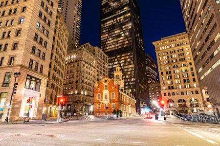 Boston Old State House with boston building skyline at Boston Downtown, MA USA. Reklamní fotografie