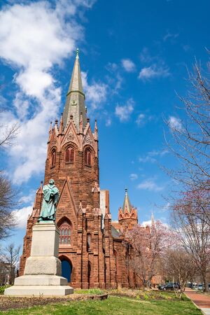 Luther Place Memorial Church in Washington DC around Logan Circle Reklamní fotografie