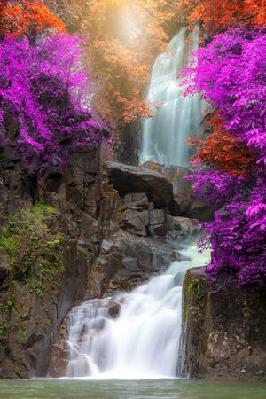 Autumn Tropical Waterfall in National Park Chathaburi  Thailand
